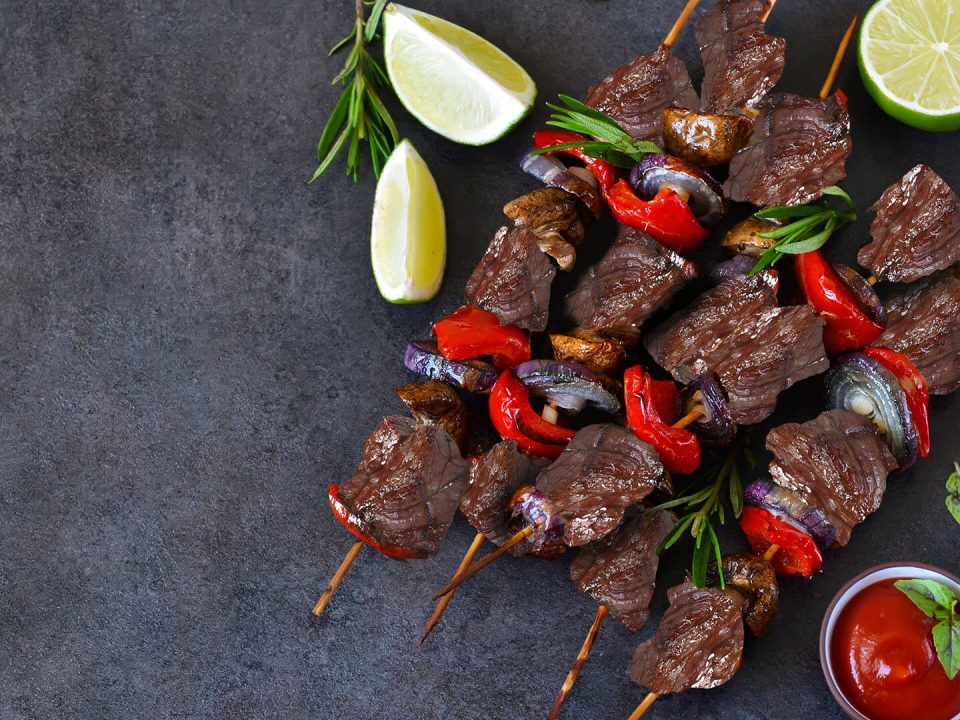 Schlachterei Hohn Fleisch Spieße